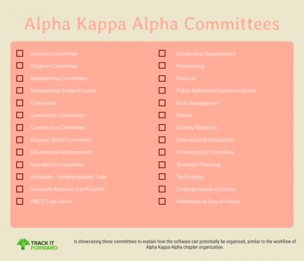 Alpha Kappa Alpha Committees