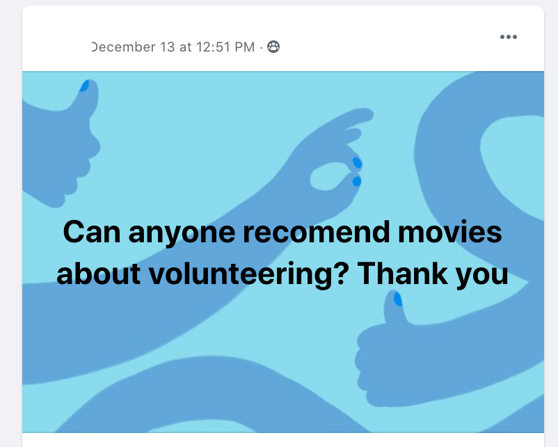 Movies about volunteering