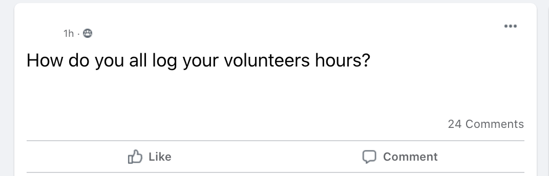 How do you all log volunteer hours?