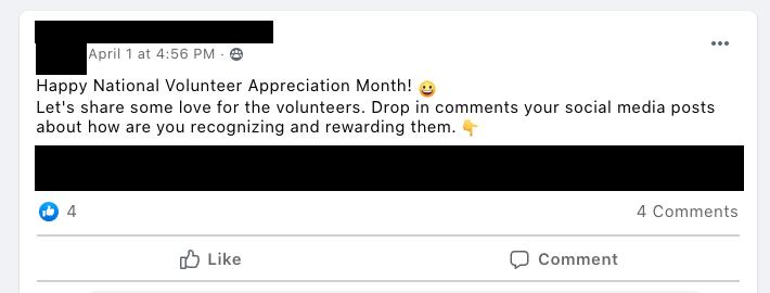 Happy National Volunteer Appreciation Month!