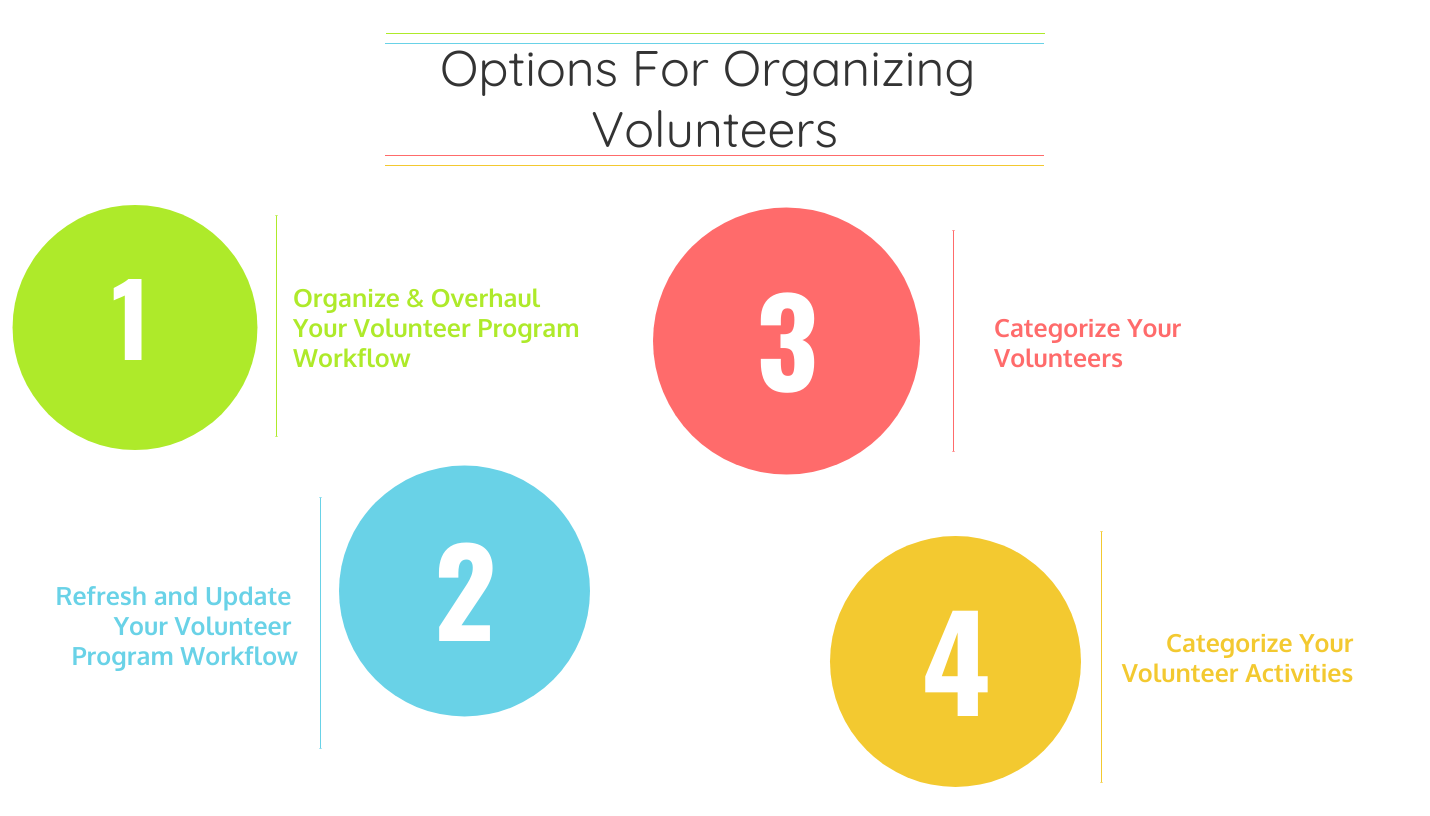 Options for ogranizing volunteers