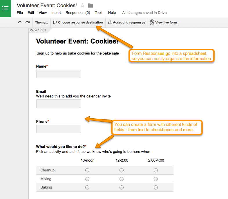 Google Apps Free Tools For Volunteer Management Track It Forward - Google docs sign up